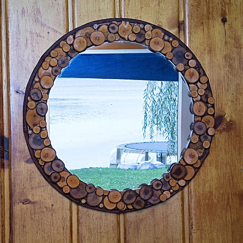 20 inch Round Rustic Mirror