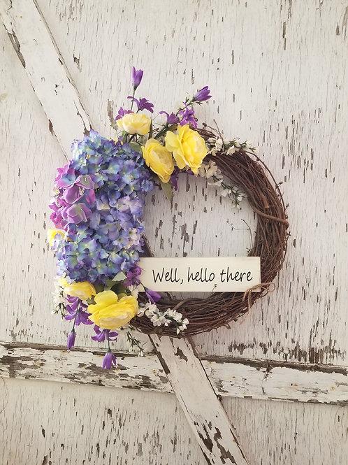 spring wreath, summer wreath, grapevine wreath, one of a kind wreath