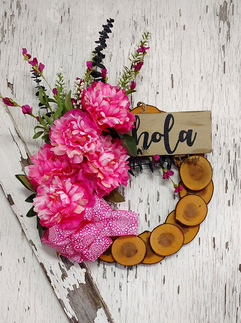 15 inch Maple Rustic Wreath/Spring-Summer