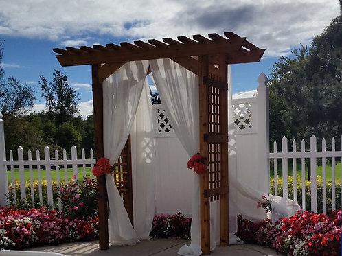 Wedding Arbors, Arbors to rent, Outside wedding rentals