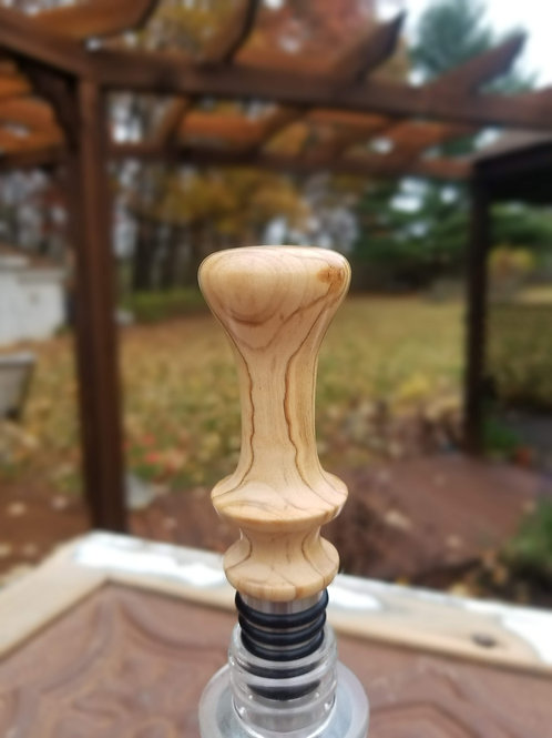 Olive Wood Whiskey Stopper