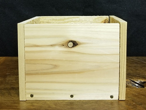 DIY, wood container, wood box, rustic box