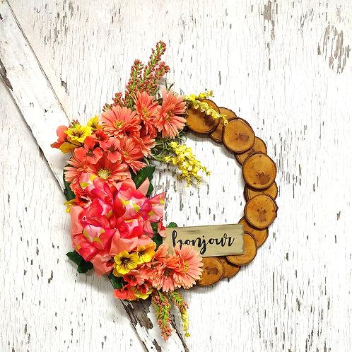 19 inch Maple Rustic Wreath/Spring-Summer