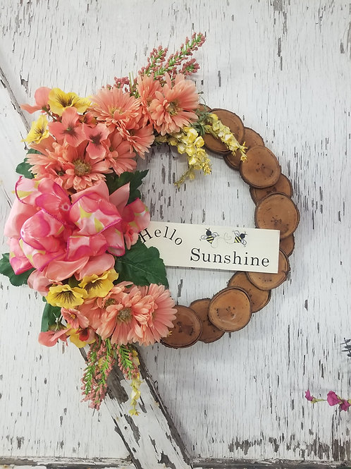 19 inch Maple Rustic Wreath/Spring-Summer