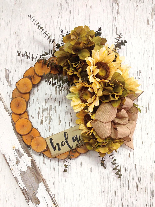 15 inch Maple Rustic Wreath/Spring-Summer