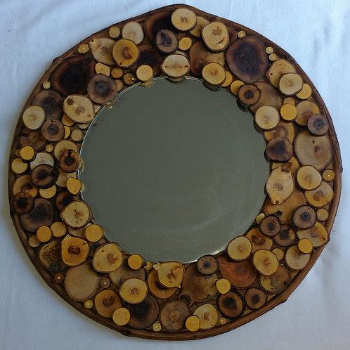Log Cabin mirror, lake cottage mirror, rustic mirror