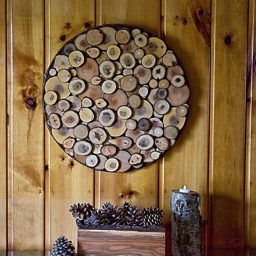 21 Inch Round Rustic Wall Decor