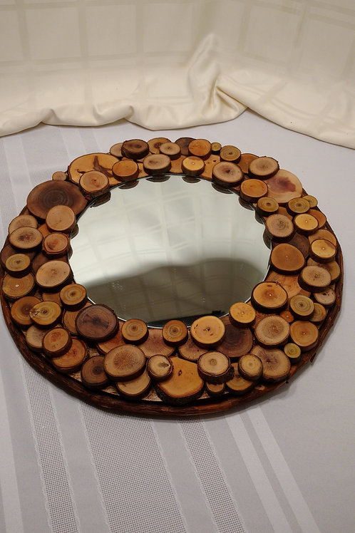 Mirrored Rustic Wedding Table Centerpiece (2 sizes)