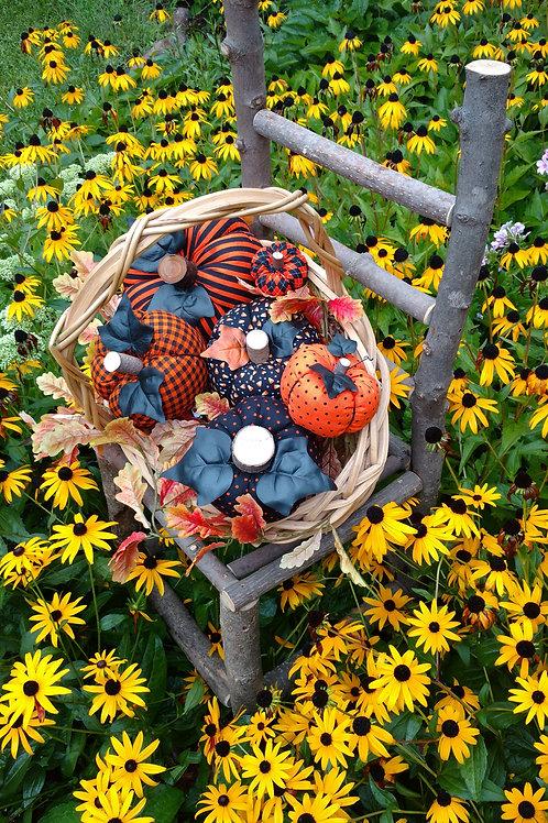 Halloween Fabric Pumpkin, Fabric pumpkins, fall pumpkins, fall decorating