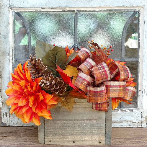 Rustic Warm Fall Centerpiece (Small size is shown)