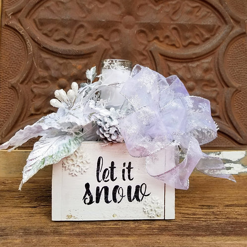 Let It Snow Holiday Centerpiece (shown in Small)
