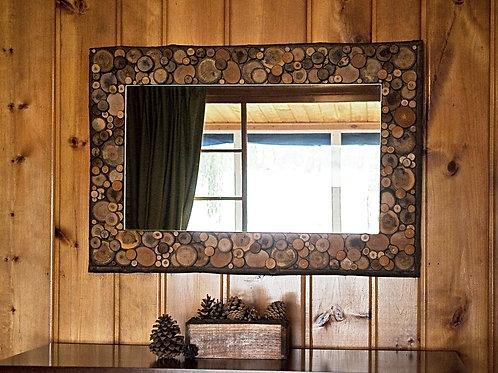 37x26 Rectangle Rustic Mirror