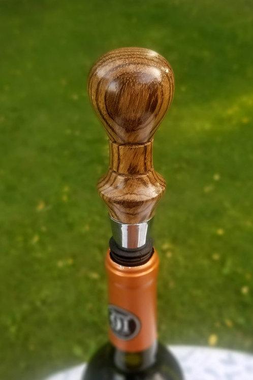 Zebra Wood Wine Bottle Stopper