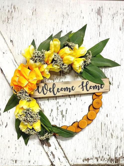 19 inch Maple Rustic Wreath/Spring Summer