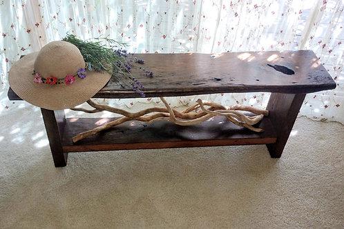 Oak Barnwood Bench