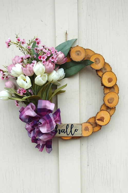 15 inch Oak Rustic Wreath/Spring-Summer