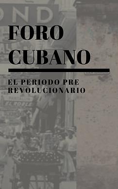 El Periodo pre revolucionario