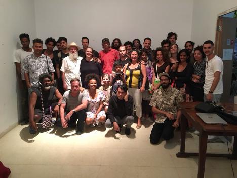 Taller Poesía, arte y cívica en Cuba (2018), Rafael Almanza. Imagen cortesía de Camila Lobón.