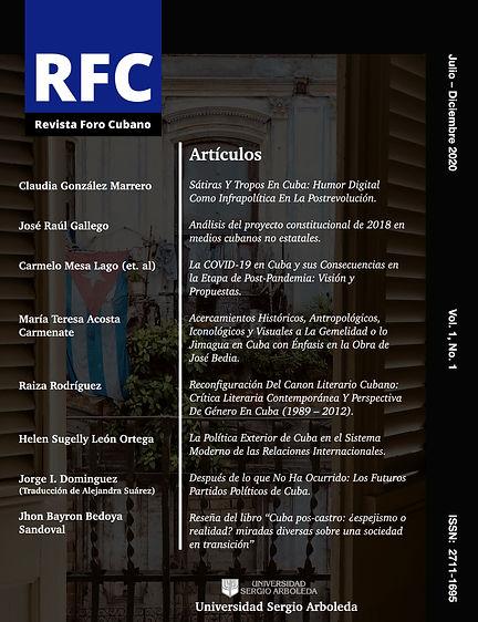 Revista Cientifica Foro Cubano