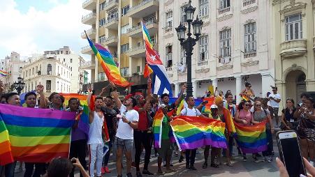 Marcha por los derechos de la comunidad LGBTI, conocida como 11M a partir de la represión (Archivo de la autora)