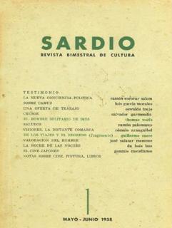 Imagen 1. Primera edición de la revista Sardio