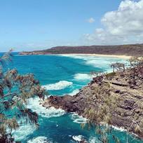 The magnificent coastline of Australia ?