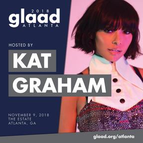 Kat Graham hosting GLAAD Gala