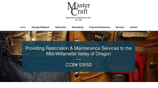 Maste Craft Resoration web desig