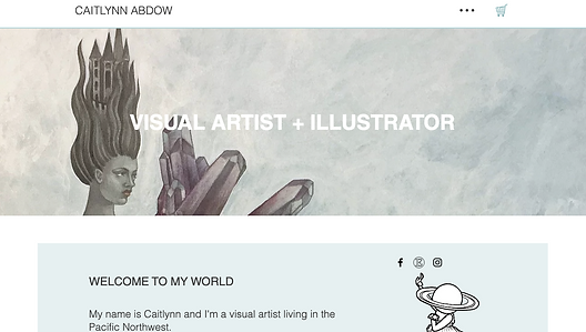 Caitlynn Abdow Art web desig
