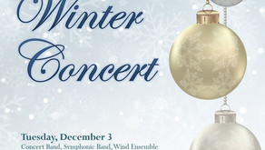 WINTER CONCERTS DECEMBER 3RD AND 5TH, 2019
