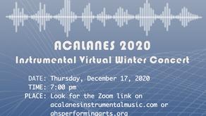Winter Concert 12/17/2020 Live on Zoom