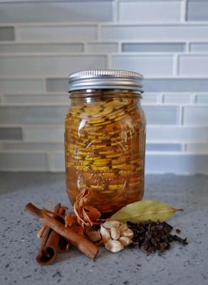 sweet pickled squash