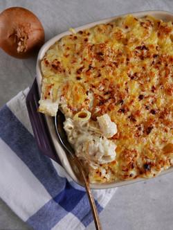 caramelized onion mac