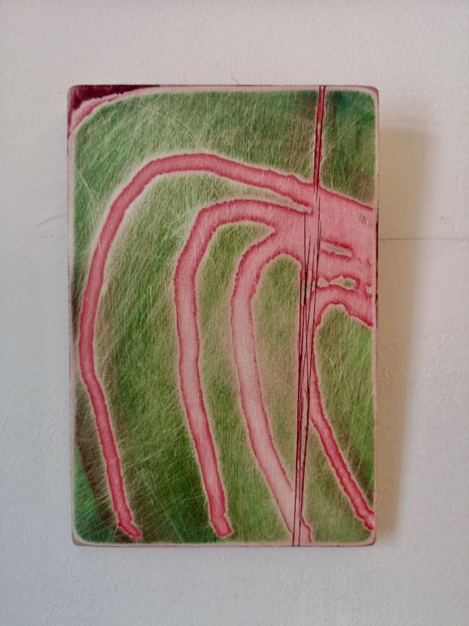 Deconstruction in Pink and Green II