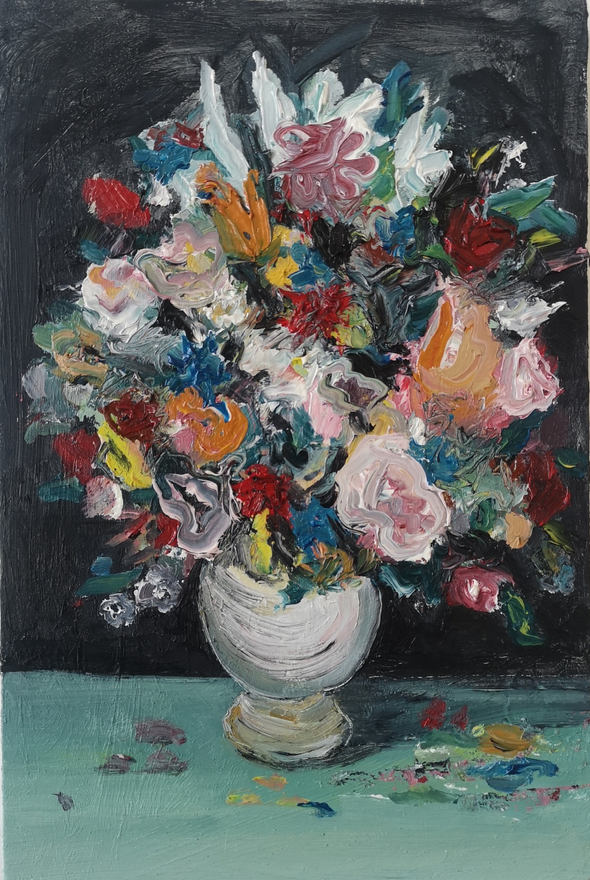 Still Life with Blue Flowers