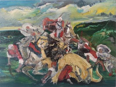 The Lion Hunt (after Delacroix)