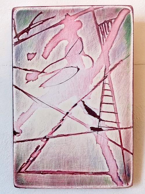 Deconstruction in Pink & Green II