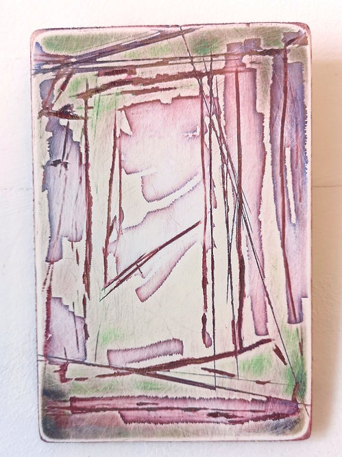 Deconstruction in Pink & Green I