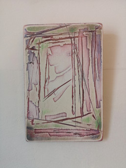Deconstruction in Pink and Green I