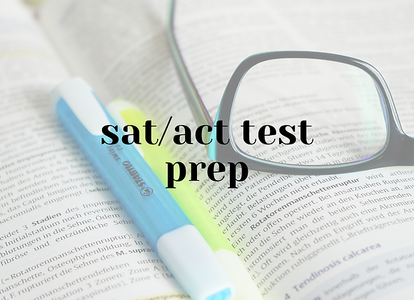 SAT/ACT Test Prep (1 hour)