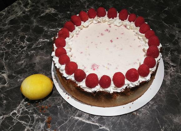 GF Lemon Raspberry Low Carb Cheesecake