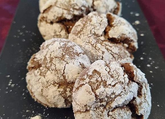Vegan Chocolate Crackle Cookies