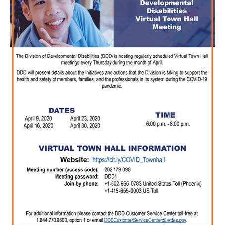 Division of Developmental Disabilities Town Hall Meeting