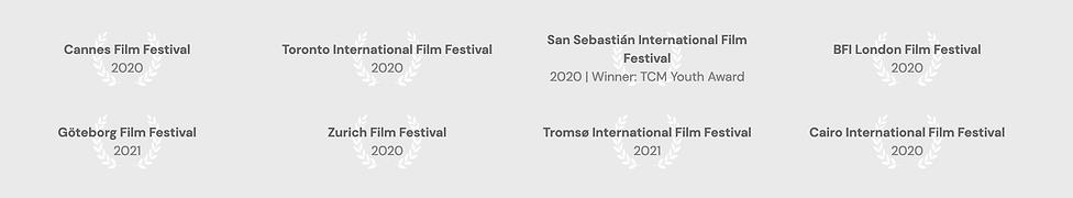 Limbo Film Festival Awards / Cannes / Toronto / San Sebastián / BFI London / Zurich / Nick Cooke DOP