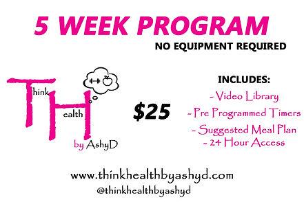 5 Week Fitness Program