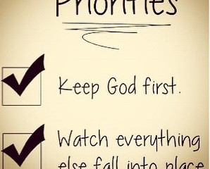 Priorities…