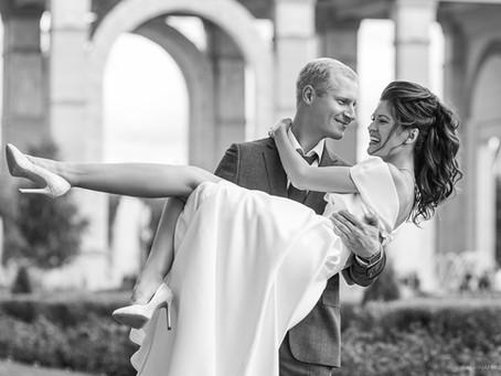 Сегодня поймала классный кадр на свадьбе. Саша и Элина. Снимали на ВДНХ #свадебный_фотограф_москва