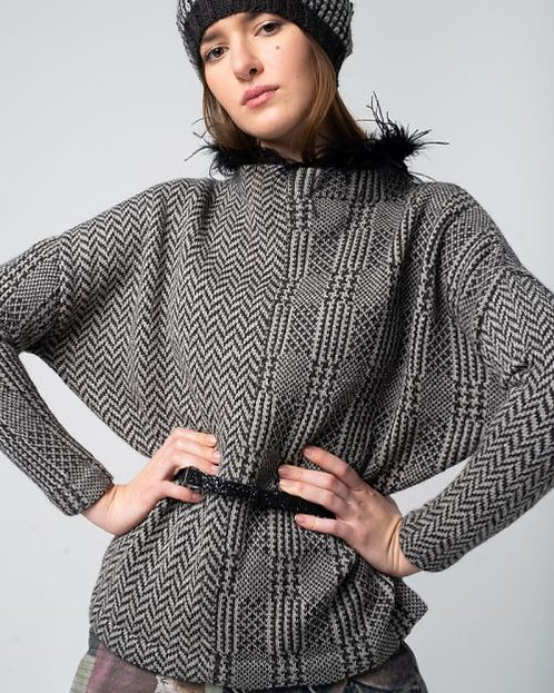 Alma & Lovis Check Pullover Oversized