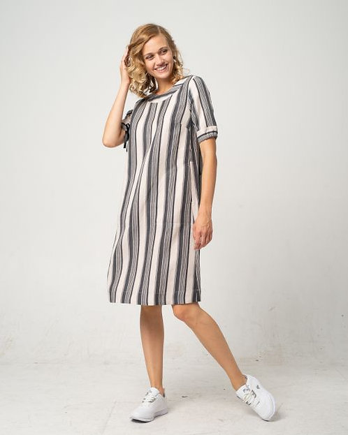 Alma & Lovis Fließendes Streifen-Kleid