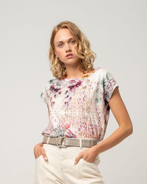 Alma & Lovis Art-Flower Blusen-Shirt in Faded Rose
